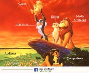 Media Publicist sees lion king
